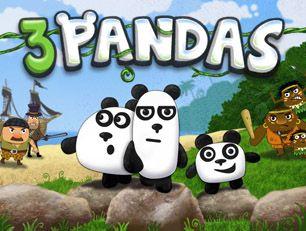 Играть игру 3 панды городе