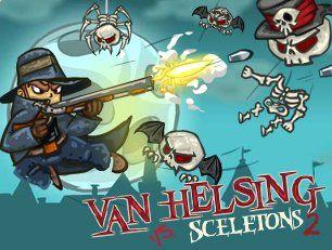 Вы, наверное, слышали что-то об легендарном Ван Хельсинге, отважном охотнике на вампиров, который всегда спасает мир от нашествия зла. Сегодня ему будут противостоять орды скелетов, которые хотят захватить страну, и он должен убить их всех прежде, чем они сумеют это сделать. Помогите ему в этой благородной миссии.