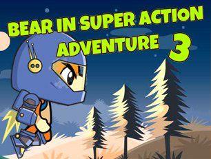 В этой игре вы играете за супер героя медведя, который решил отбить огромные полчища глупых инопланетных захватчиков. Вы летите с помощью реактивного ранца и стреляете в движущиеся мишени в виде инопланетных монстров. Улучшайте характеристики и модификации оружия для быстрого прохождения карты.