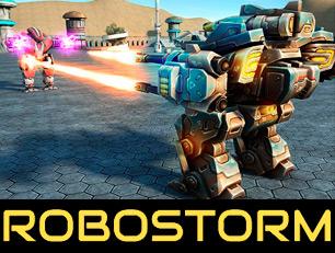 'Robostorm io'- это трёхмерная битва роботов. Мы уже знакомы с ситуацией, когда 4 команды начинают в разных углах карты и борются за первенство. На этот раз нам предстоит потрясающее сражение!